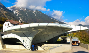 Station Nordkettenbahn, ontworpen door architecte Zara Hadid