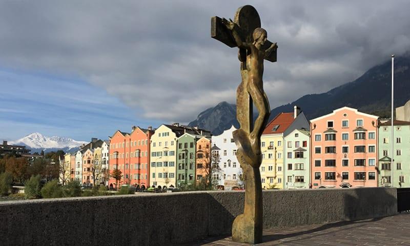 Innbrücke met kruisbeeld