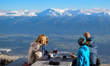 Uitzicht vanaf restaurant Seegrube