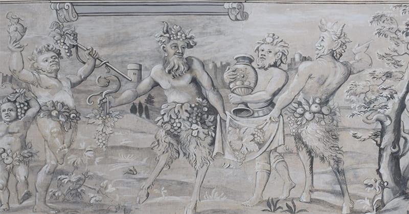 Schloss Ambras Binnenhof Detail
