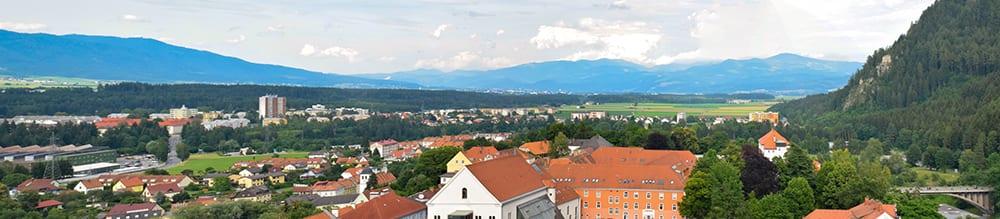 Uitzicht vanaf de toren in Judenburg