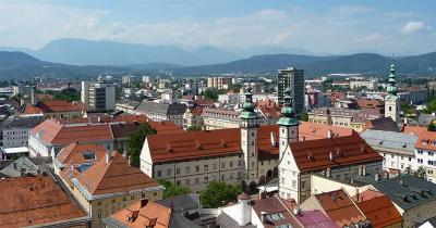 Uitzicht vanaf de toren van de St. Egid-kerk