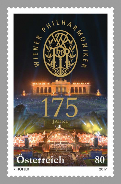 Postzegel 175 jaar Wiener Philharmoniker