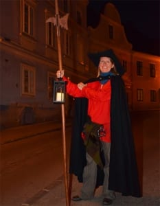 Christine Emberger als nachtwacht
