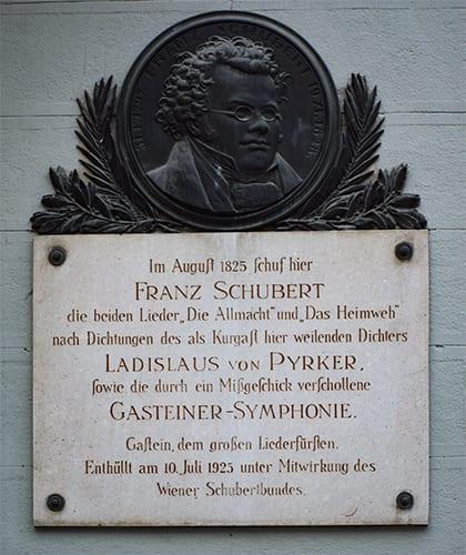 Gedenkplaat Franz Schubert