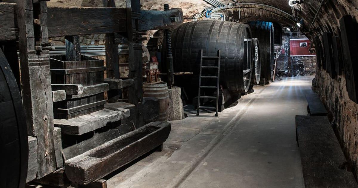 Wijnmuseum in de kelders van kasteel Esterházy