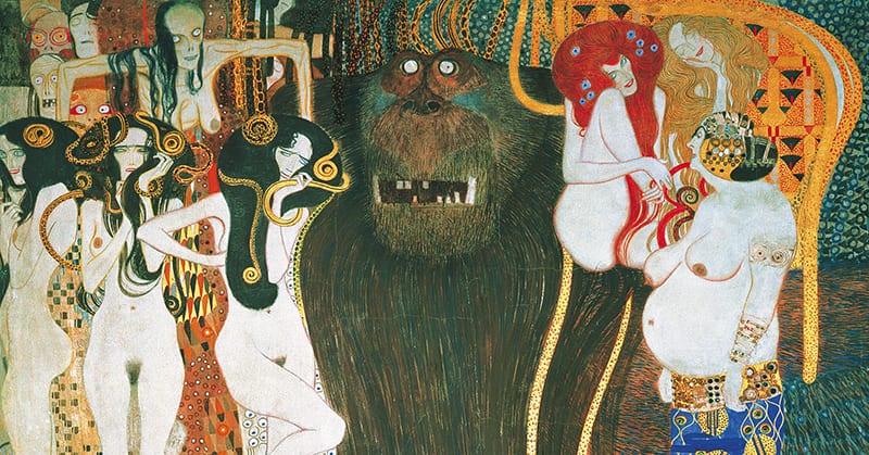 Gustav Klimt - Beethovenfries (detail)