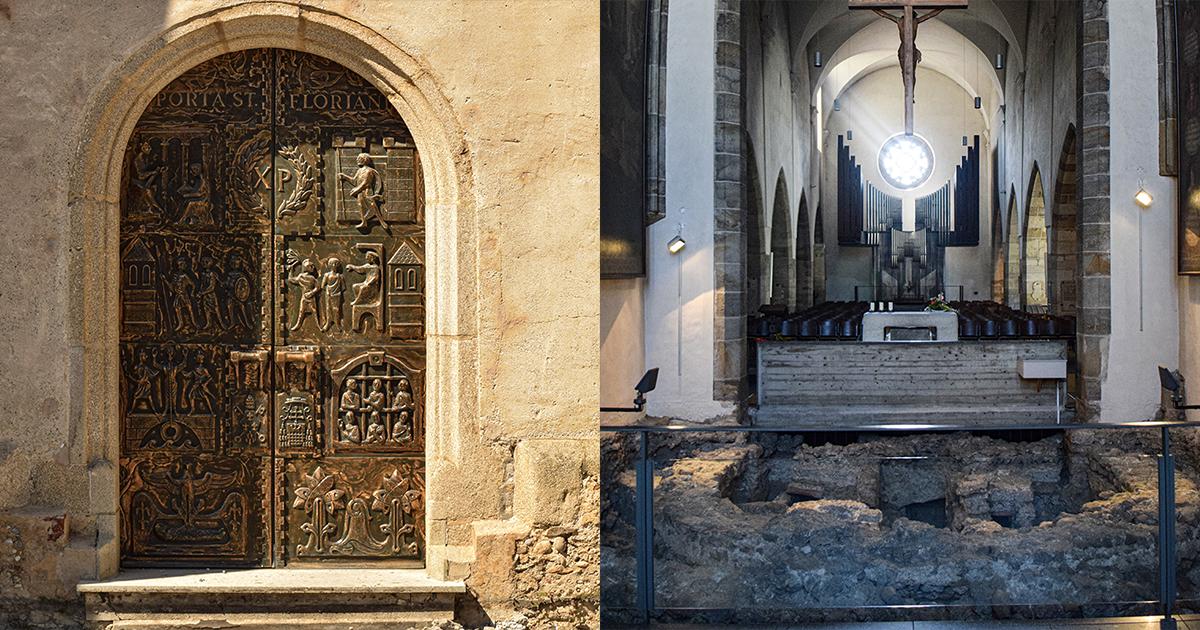 Sint-Laurentiusbasiliek: poort en uitgravingen