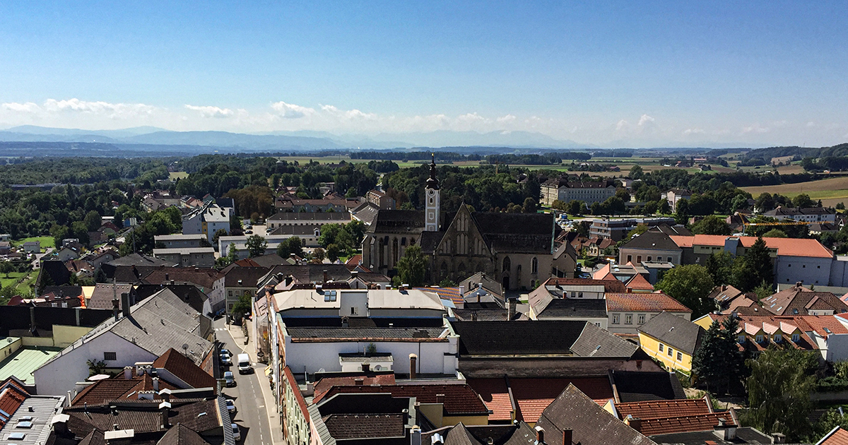 Uitzicht vanaf de stadstoren
