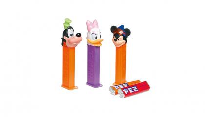 Dispensers met hoofdjes van (strip)figuren