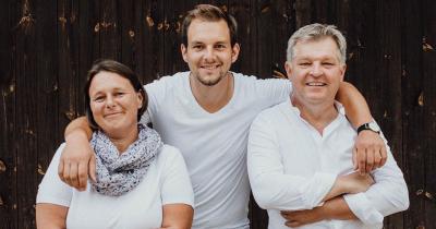 Martina en vader en zoon Gerhard Deim