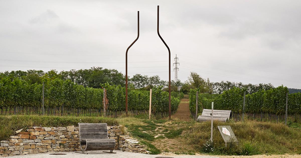 Het Weintor aan het begin van de Weinweg