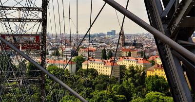 Blik op Wenen vanuit het reuzenrad