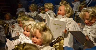Poppenkoor in het Weihnachtsmuseum