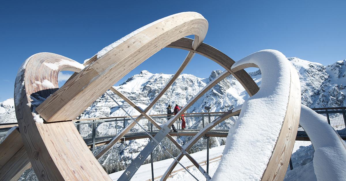 Zonnewijzer in skigebied Elfer