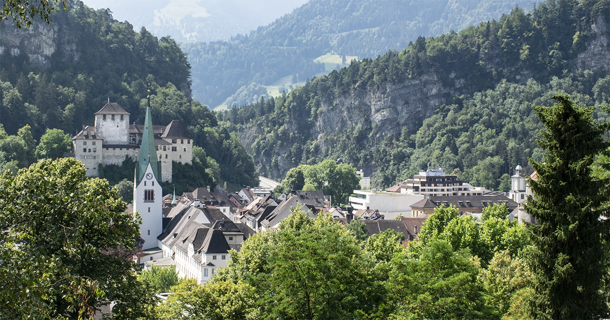Uitzicht op Feldkirch