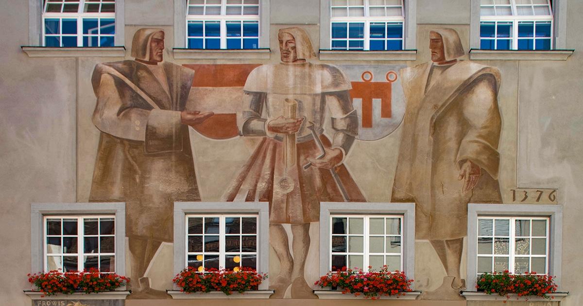 Fresco's op het Raadhuis