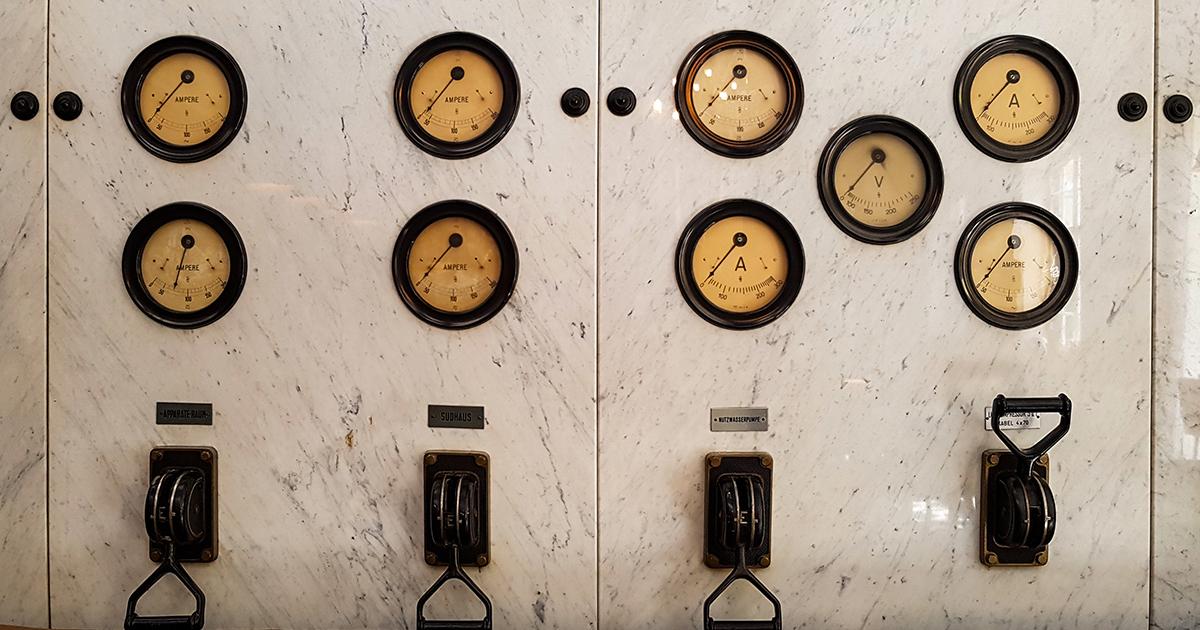 instrumentenpaneel in een brouwerij