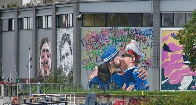 Graffiti in de haven