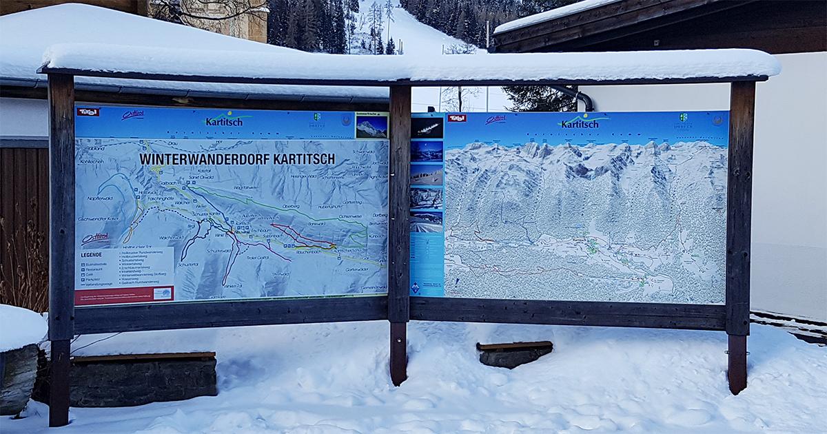 Overzicht winterwandelroutes