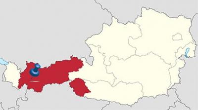 Kaart Oostenrijk - Ligging Serfaus Fiss Ladis