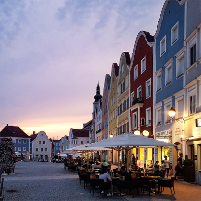 Cafés en terrassen Silberzeile