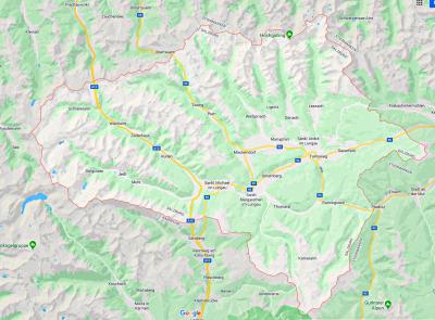 Kaart van Lungau