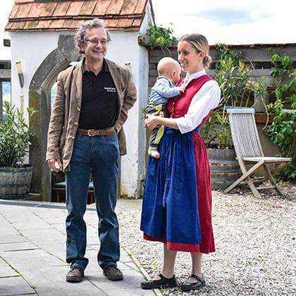 Georg Winkler-Hermaden met (klein)dochter