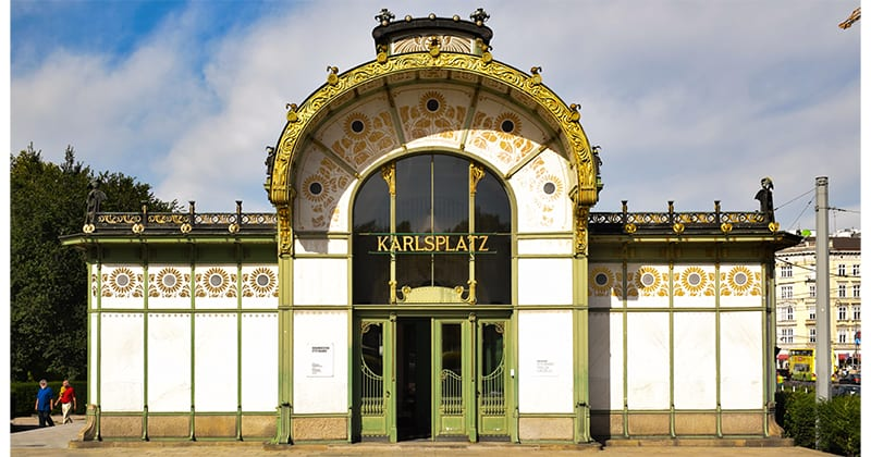 Paviljoen op de Karlsplatz