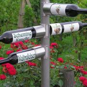 Wegwijzer wijnwandelpad