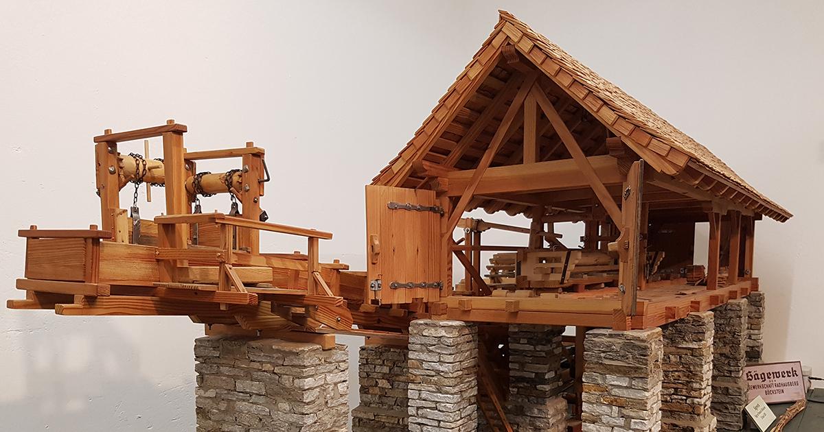 Montanmuseum Böckstein: Model van een zagerij