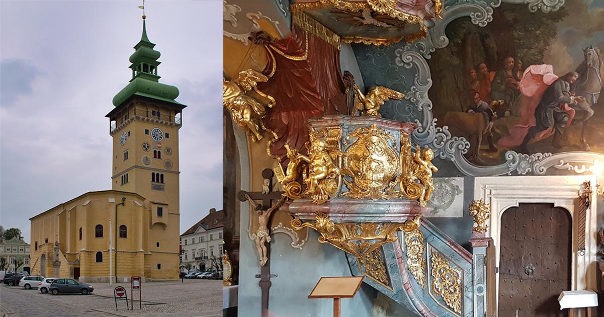Stadhuis en interieur van de kapel