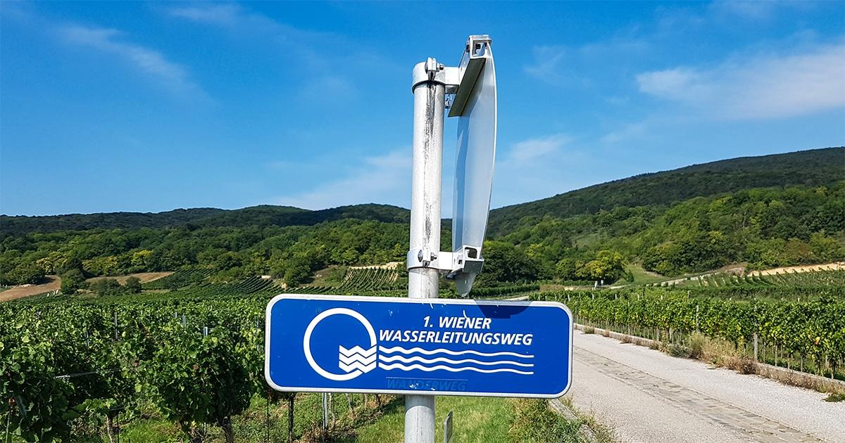 Bordje van de 1. Wiener Wasserleitungsweg