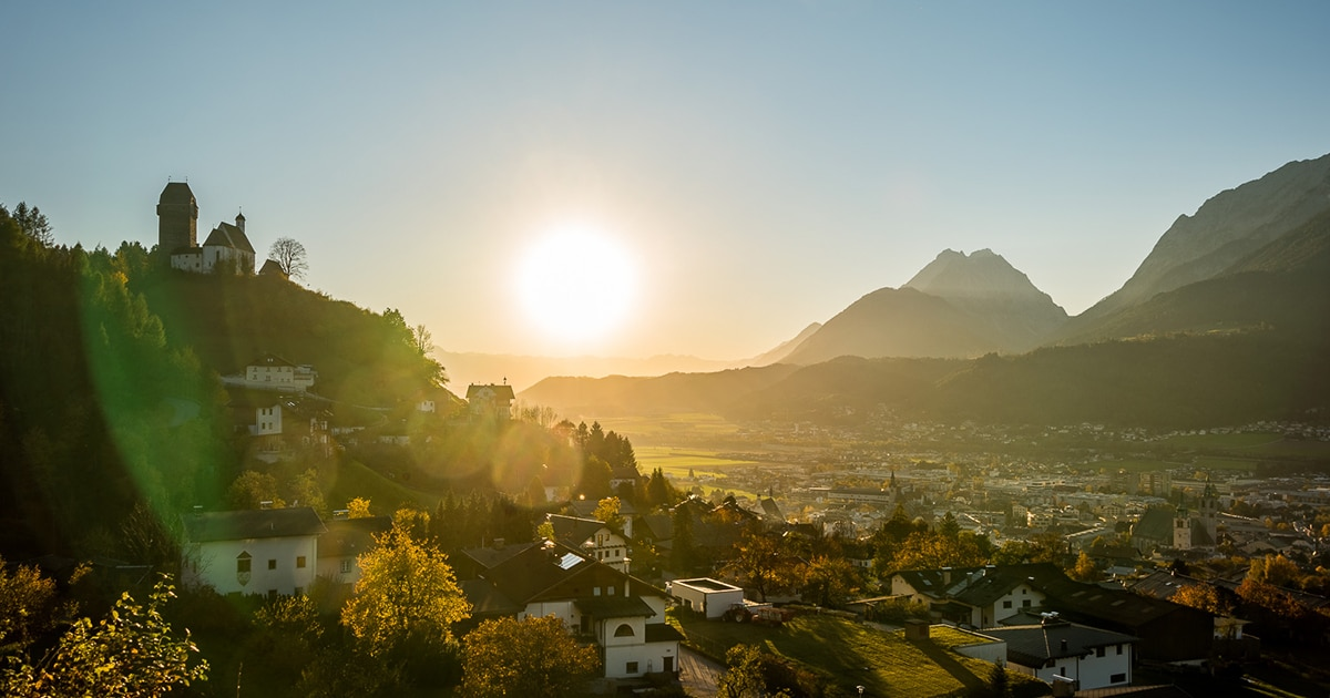 Uitzicht op Schwaz
