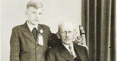 Thomas Bernard met grootvader Johannes Freumbichler