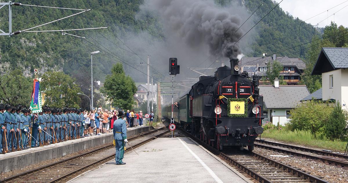 Kaisergeburtstag: Aankomst per trein