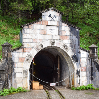 Mijningang zoutmijn Hallstatt