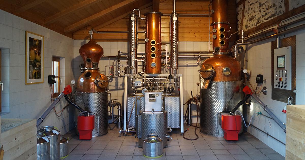 Moderne distilleerderij