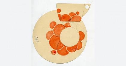 Jutta Sika, Dekorontwerp voor een porseleinen servies van de Wiener Porzellanmanufaktur Josef Böck, 1901 © MAK