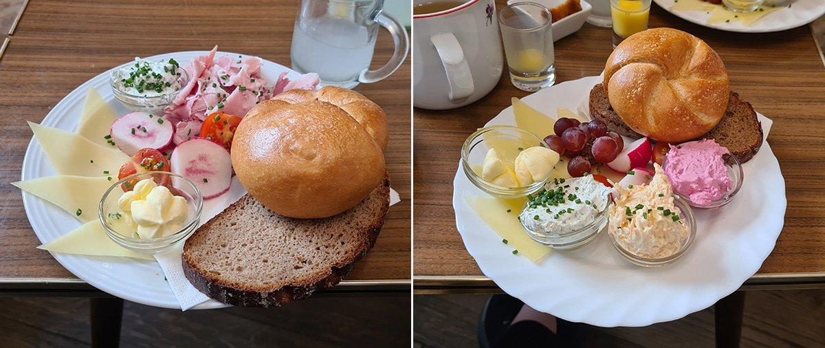 Ontbijt bij Vollpension